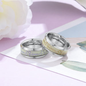 Personalized Engrave Luminous Rings - Personalized Jewellery