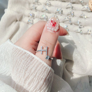 Dainty Zircon Initial Letters Rings - Personalized Jewellery