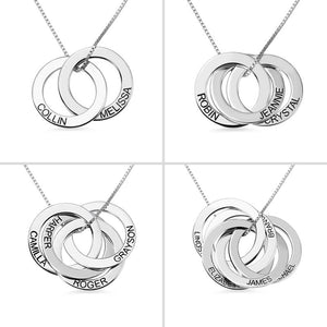 Personalized Russian Circle Necklace - Personalized Jewellery