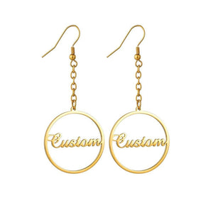 Personalized Ample Name Earrings - Personalized Jewellery