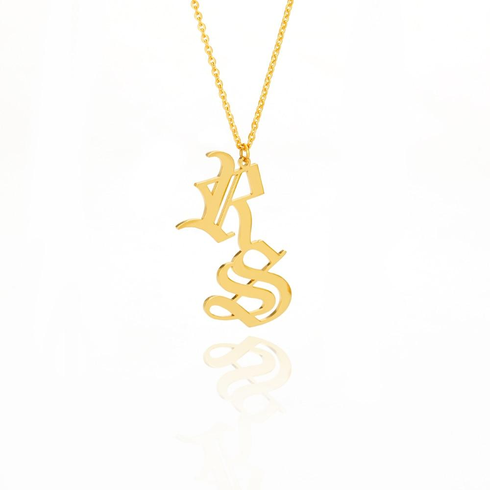 Double Initial Necklace - Personalized Jewellery