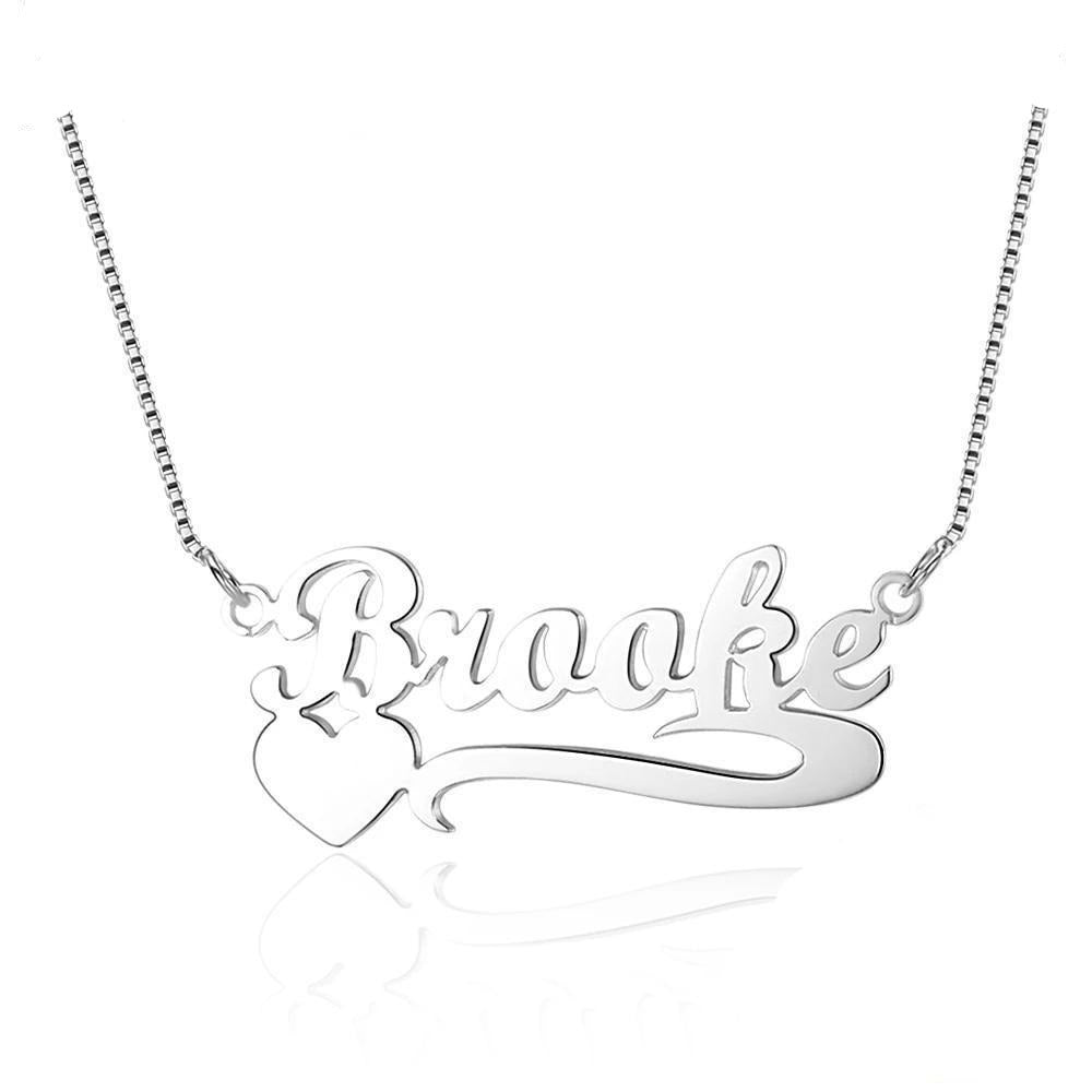 Personalized Name Necklace With Heart - Personalized Jewellery