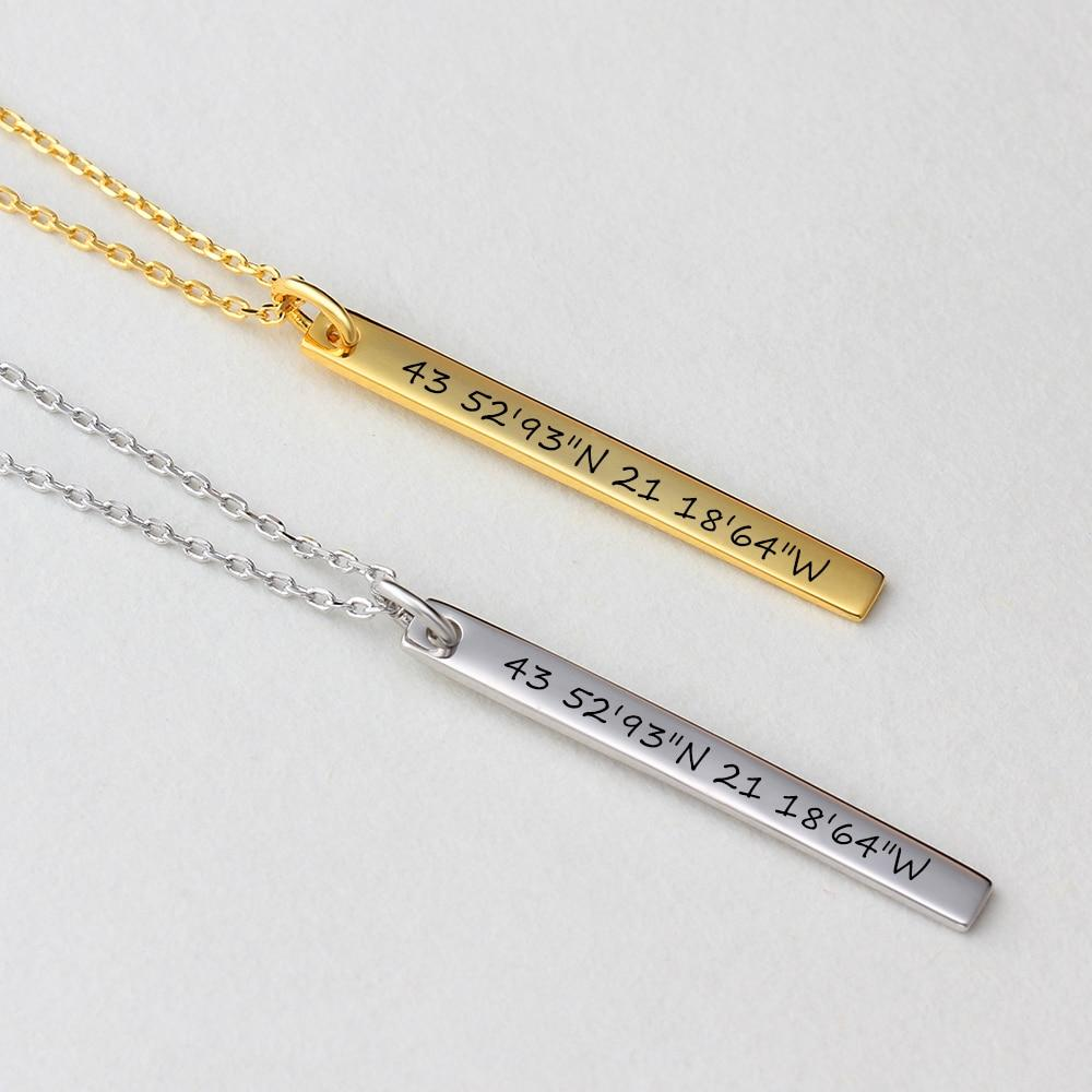 Personalized Firix Bar Necklaces - Personalized Jewellery