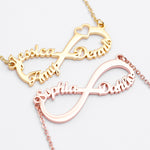 Personalized Infinity Name Necklace - Personalized Jewellery