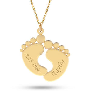 Personalized Foot Necklaces - Personalized Jewellery