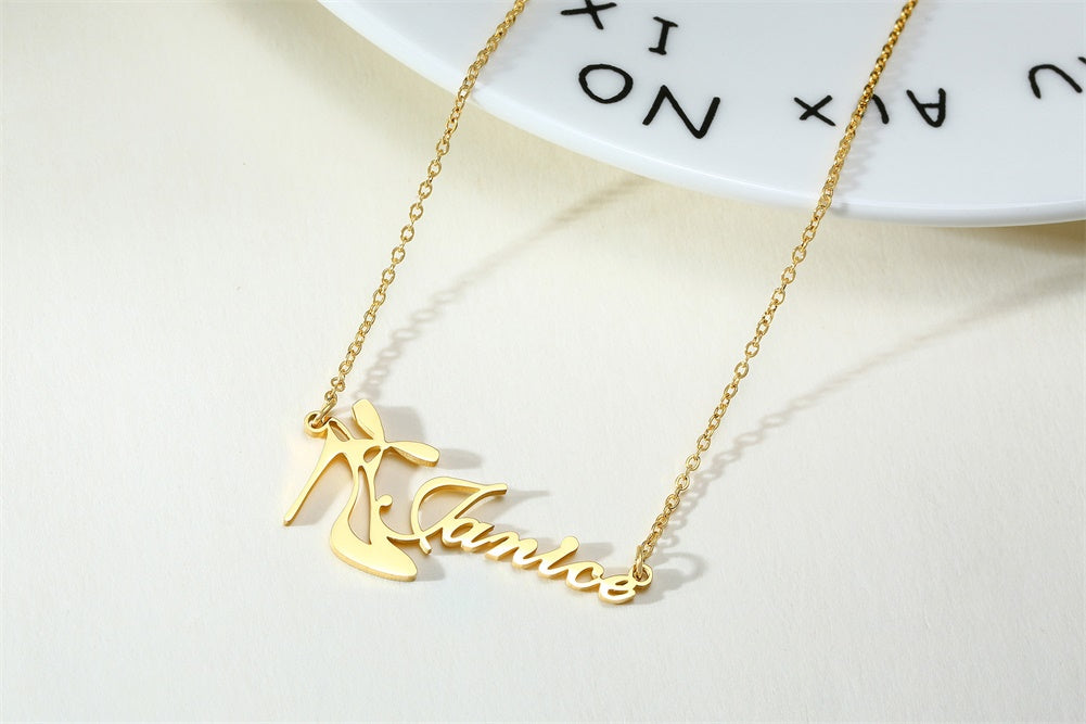 Personalized Heels Name Necklaces - Personalized Jewellery