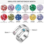 Personalized Stacks Rings Birthstone - Personalized Jewellery