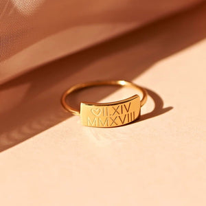 Personalized Sculpt Name Ring - Personalized Jewellery