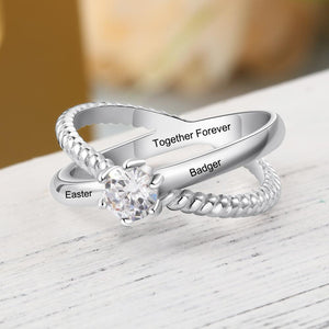 Personalized Du Jour Name Ring - Personalized Jewellery