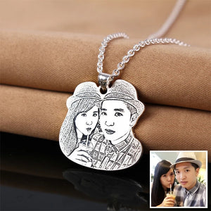 Personalized Custom Photo Necklace - Personalized Jewellery