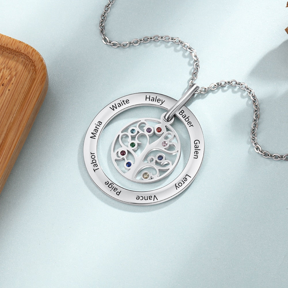 Personalized Familia Name Necklace - Personalized Jewellery