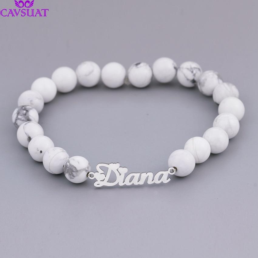 Personalized Beads Name Bracelet - Personalized Jewellery
