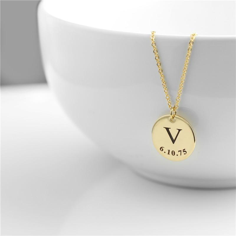 Engraved Disc Necklaces - Personalized Jewellery