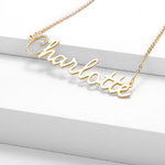 Crystal Name Necklace - Personalized Jewellery
