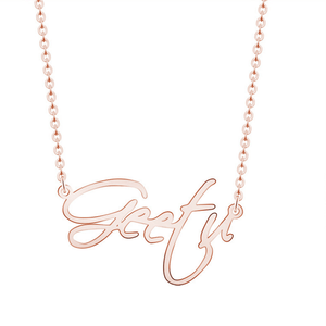 Personalized Script Name Necklaces2 - Personalized Jewellery