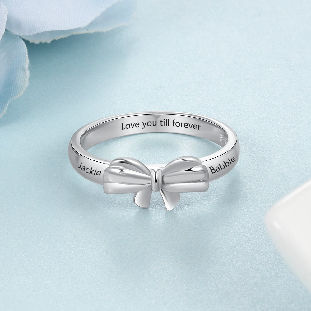 Engraved Pita Name Ring - Personalized Jewellery
