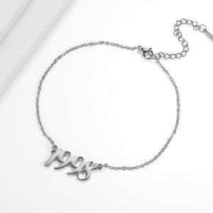 Personalized Crus Anklet - Personalized Jewellery