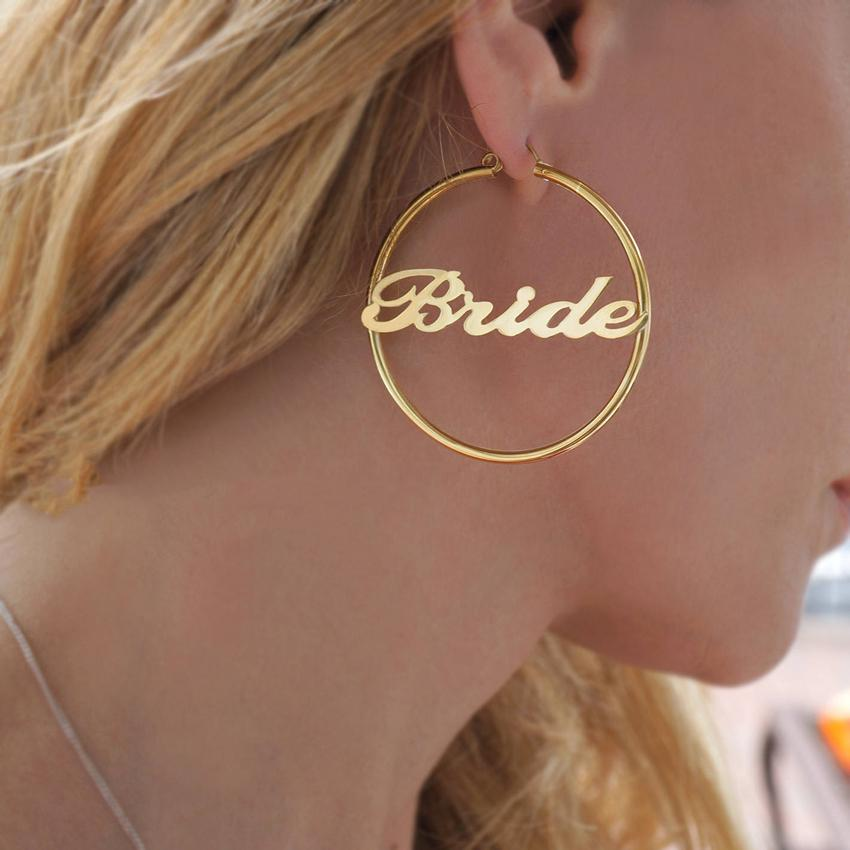 Personalized Hoops Name Earrings - Personalized Jewellery