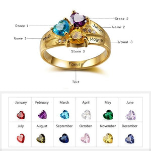 Personalized Glittering Ring - Personalized Jewellery