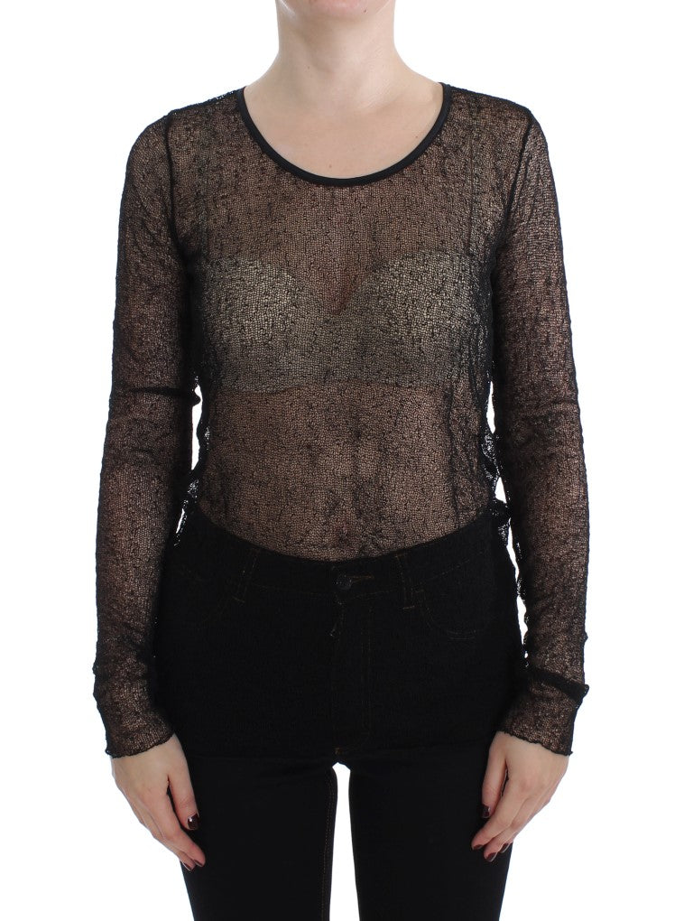 Black Transparent Blouse Top - EnModa.no