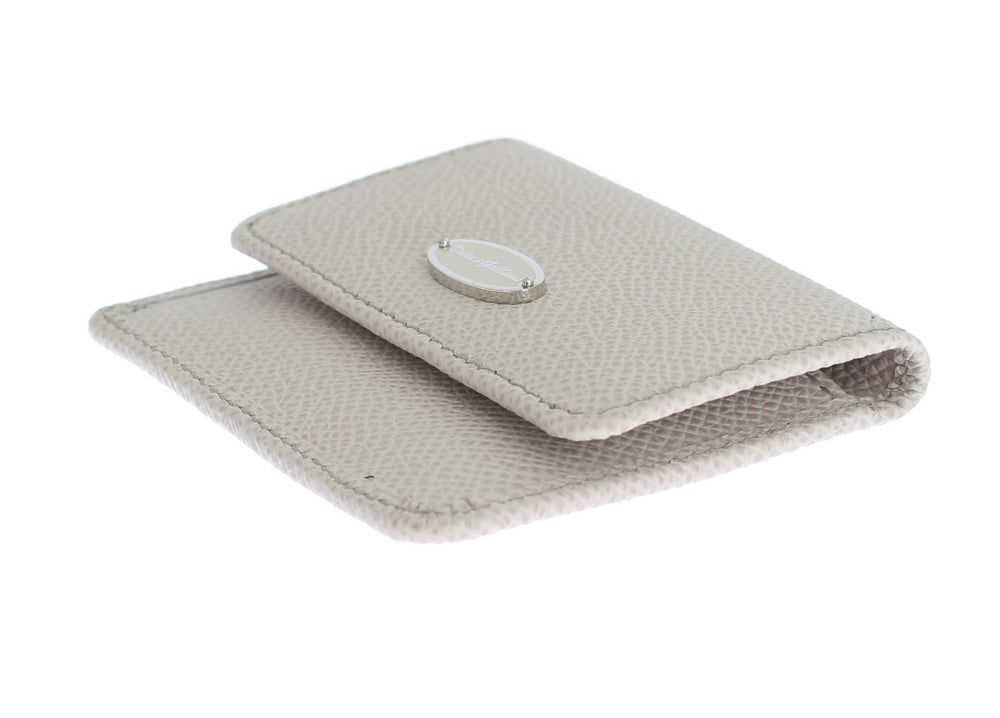 White Dauphine Leather Case Wallet - EnModa.no