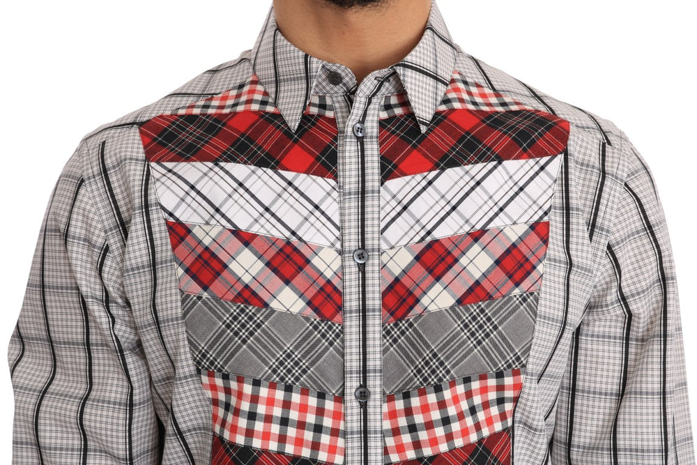 Multicolor Check Cotton Slim Fit Shirt - EnModa.no