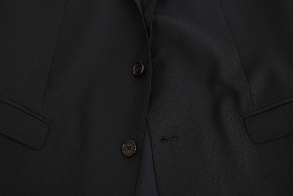Blue Wool Two Button Slim Fit Suit - EnModa.no