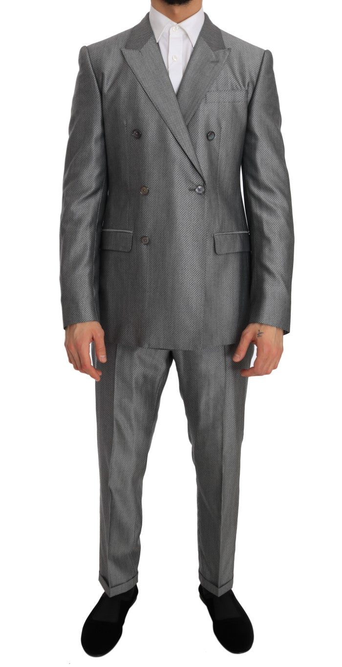 Black Stretch Crystal Bee Slim Fit Suit - EnModa.no