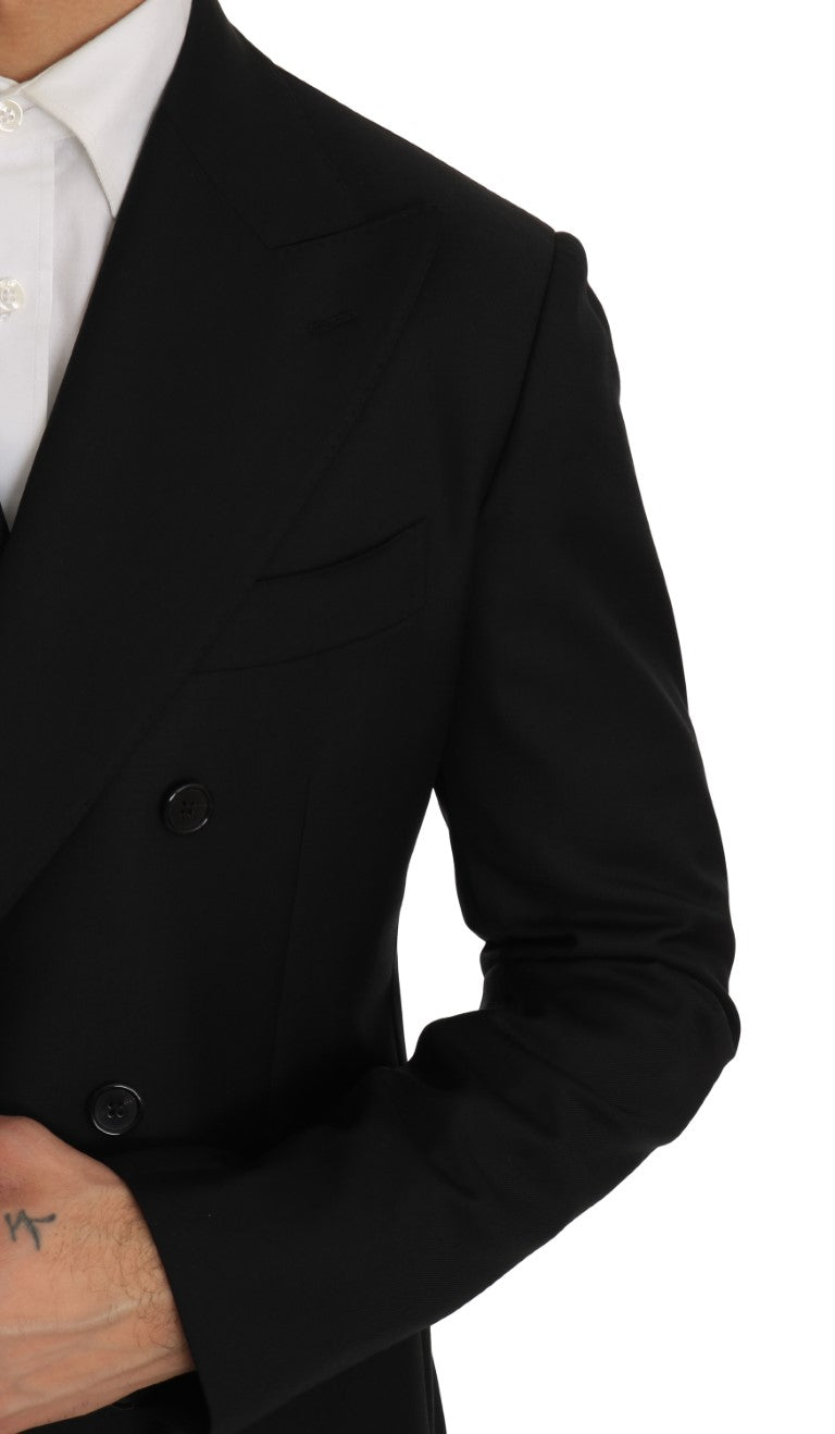 Black Double Breasted Slim Fit Suit - EnModa.no