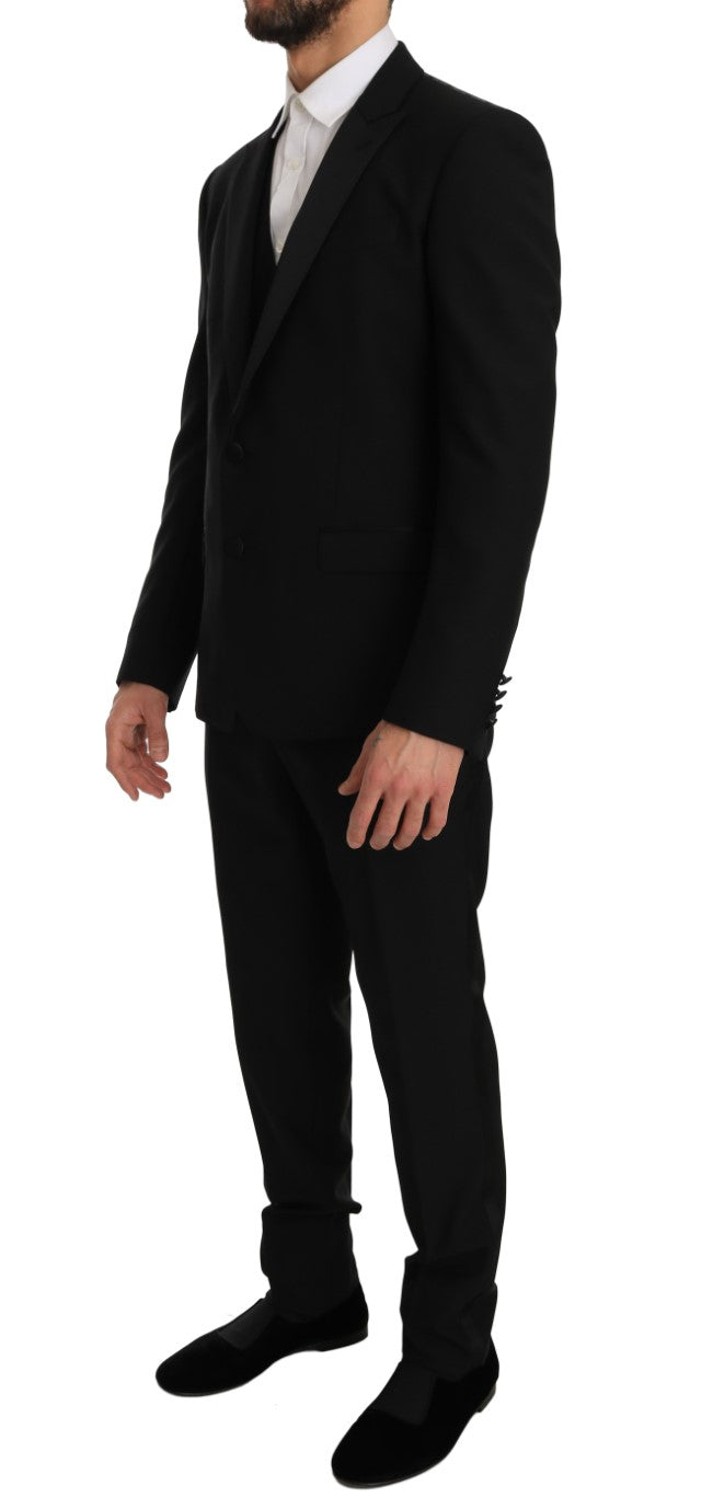 Black MARTINI Slim Fit Smoking Tuxedo Suit