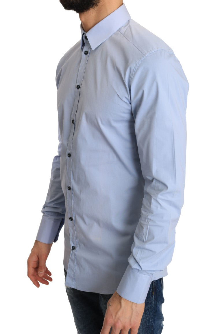 Blue Cotton GOLD Slim Fit Shirt