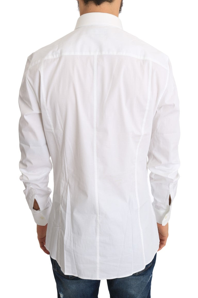 White Cotton SICILIA Slim Shirt