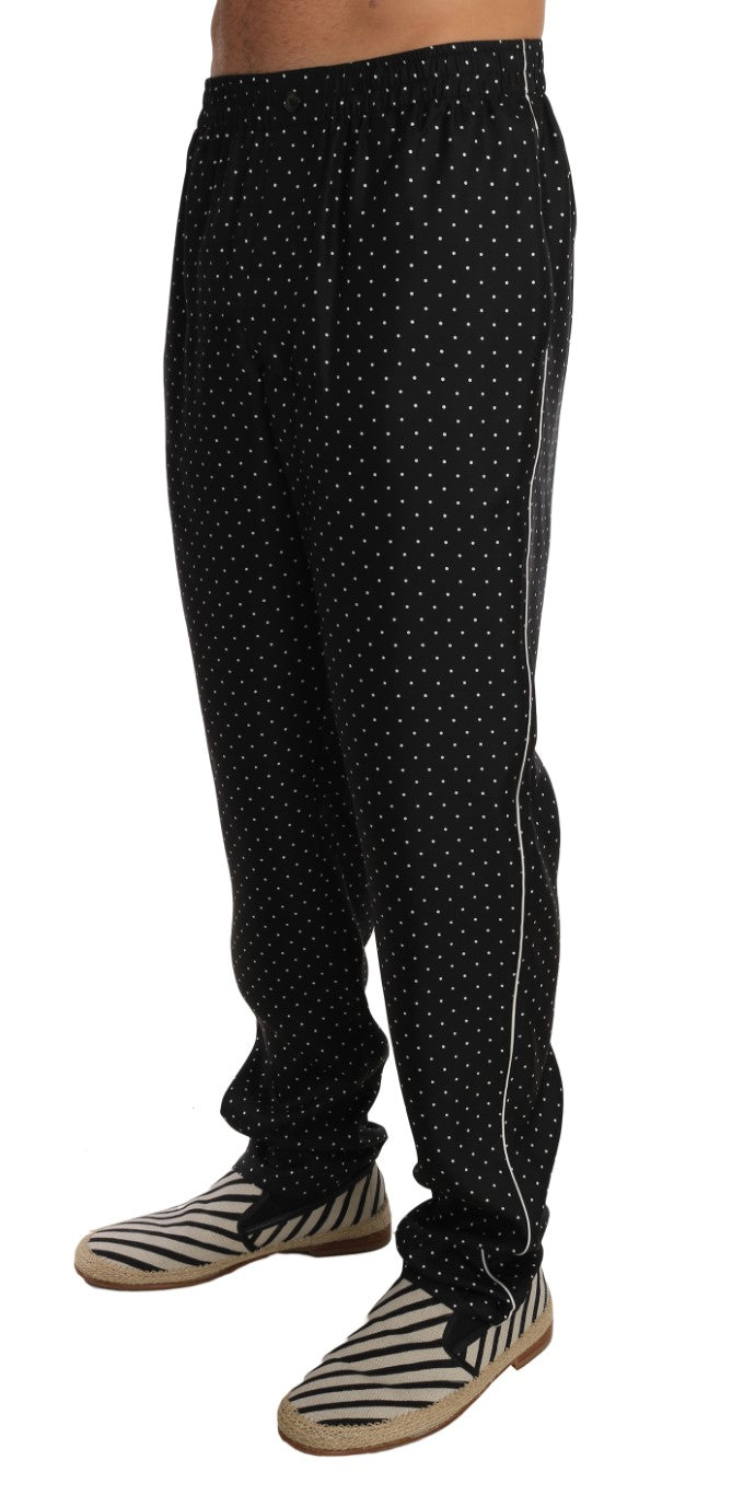 Lounge Black Polka Dot Pajama Pants - EnModa.no