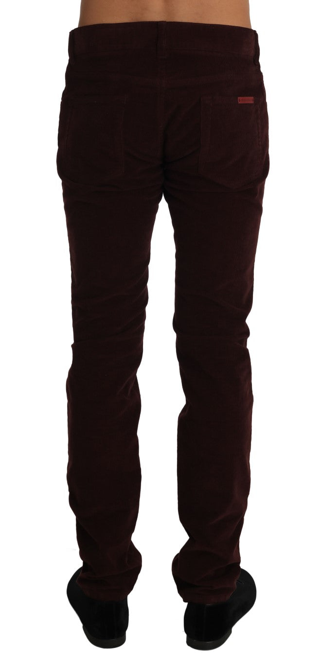 Corduroys CLASSIC Brown Stretch Pants Jeans - EnModa.no
