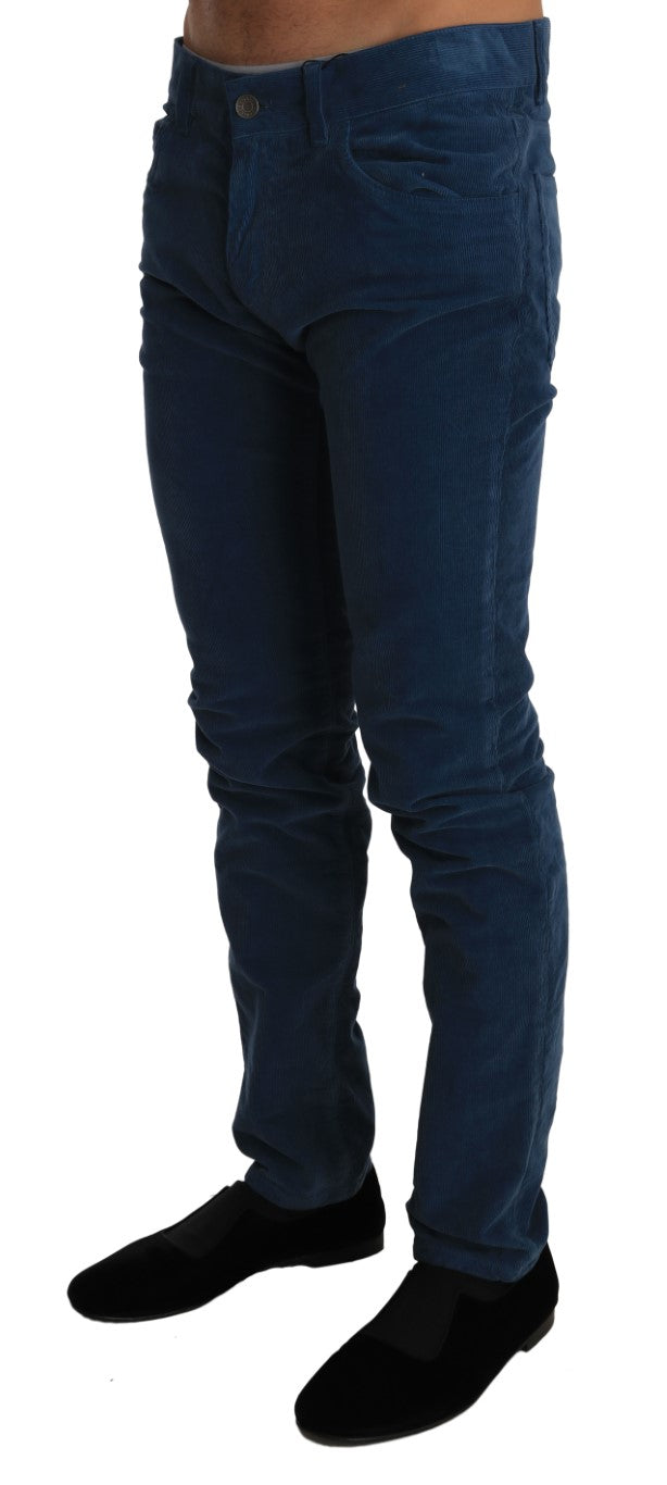 Corduroys Blue CLASSIC Stretch Pants Jeans - EnModa.no