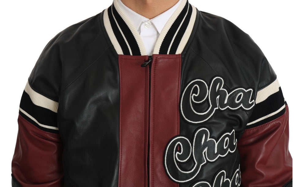 Leather Club Lounge Black Red Jacket - EnModa.no