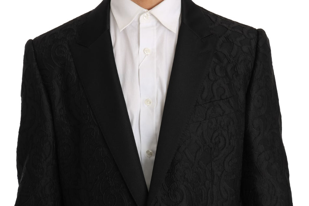 Black Jacquard MARTINI Blazer Jacket - EnModa.no