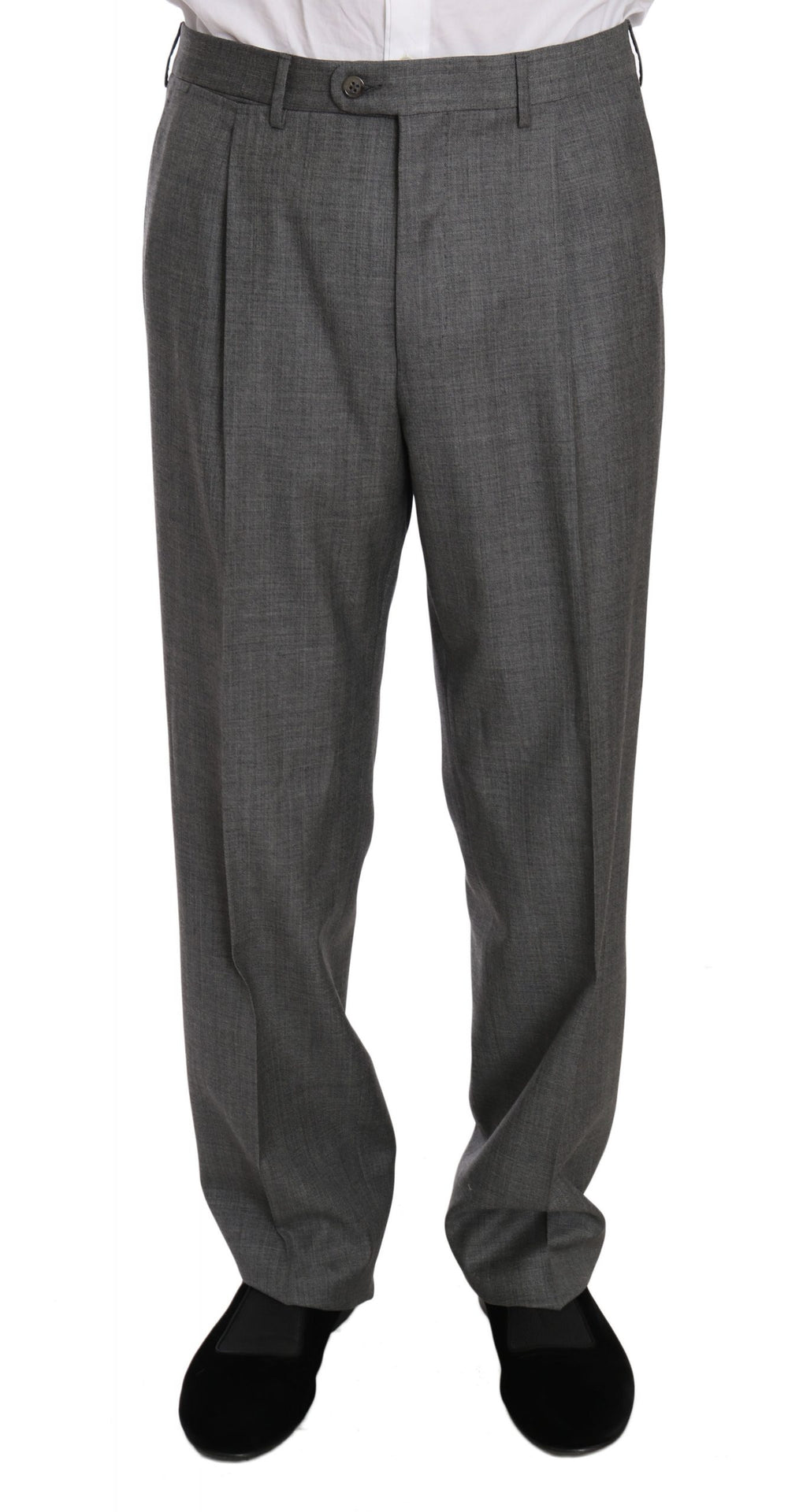 Gray two Piece 3 Button Wool suit