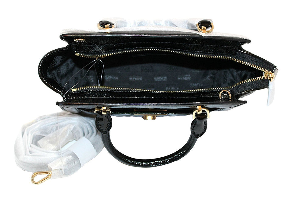 Vivianne Small Patent Leather Satchel Messenger Bag