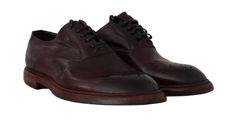 Bordeaux Leather Marsala Derby Dress Shoes
