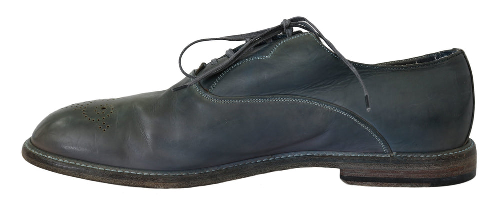 Blue Leather Marsala Derby Dress Mens Shoes