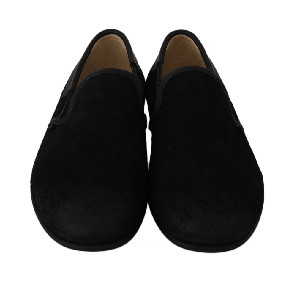 Black Leather Loafers Dress Formal Shoes