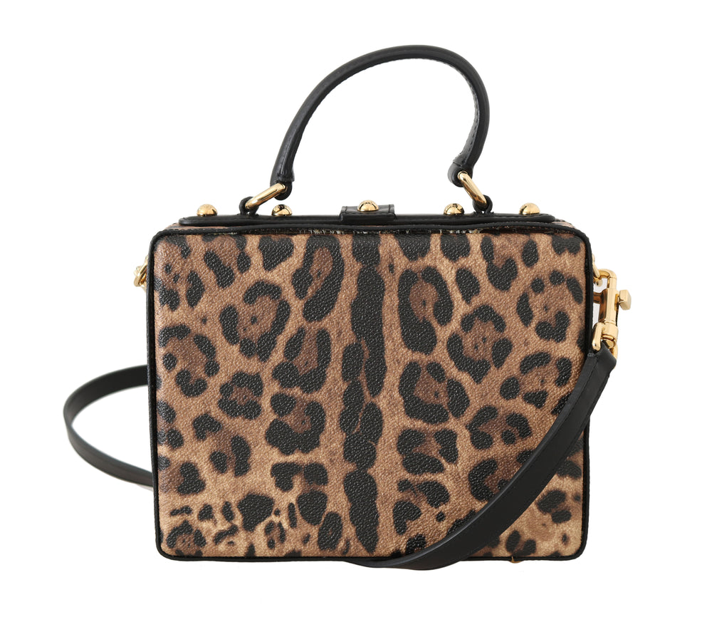 Sicily Leopard Leather Hand Shoulder Bag