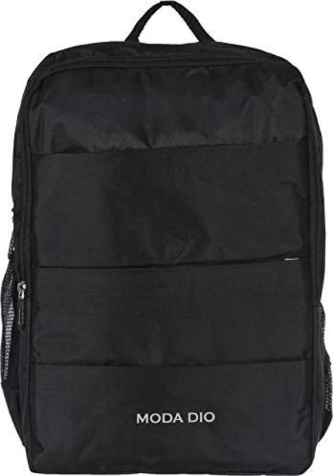 Moda Dio BPK10 Trendy 30 Ltrs Laptop Backpack with Adjustable Strap - Black - Celestech Smartwatch & Bands, Wireless Earbuds, Audio