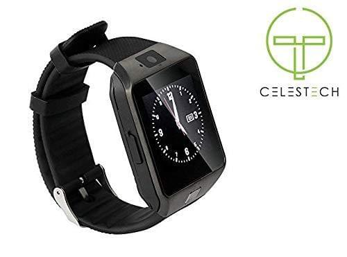 Celestech WS04 Unisex Digital Smart Watch (Black) - Celestech Smartwatch & Bands, Wireless Earbuds, Audio