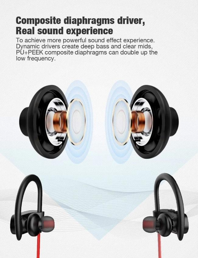 Celestech Blaze Wireless Sports HD Sound Earphone with Mic - Celestech Smartwatch & Bands, Wireless Earbuds, Audio