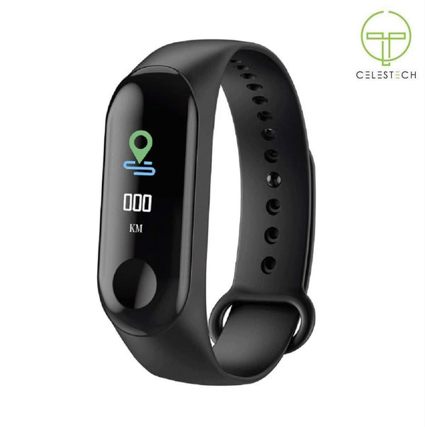 Celestech M3 Fitness Tracker with Heart Rate and Sleep Monitor Smartband (Black)