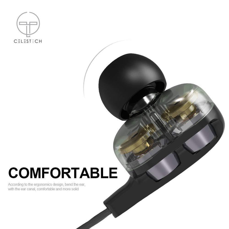 Celestech CTD4CW Earphones with in Built Mic (Black) - Celestech Smartwatch & Bands, Wireless Earbuds, Audio