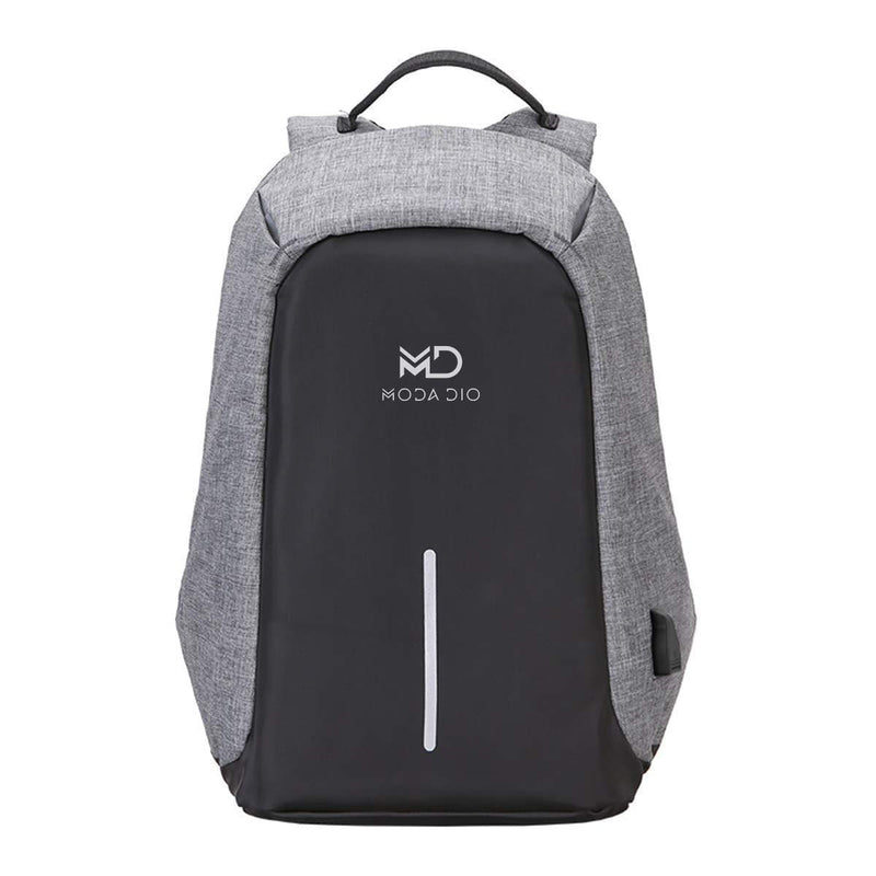 MODA DIO Vogue BPK13 Waterproof Anti Theft Laptop Casual Bag with Charging Point (Grey) for Size Upto 14.1 inch Laptop - Celestech Smartwatch & Bands, Wireless Earbuds, Audio