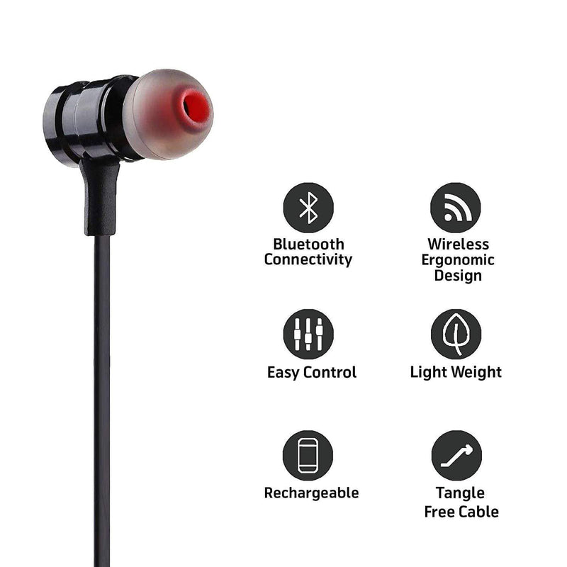 Celestech RS01 Wireless Bluetooth Sports Headset with in Built Mic (Black) - Celestech Smartwatch & Bands, Wireless Earbuds, Audio
